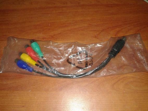 7-pin S-video A 4 Rca Componente Rgb Cable Adaptador Hdtv Tv