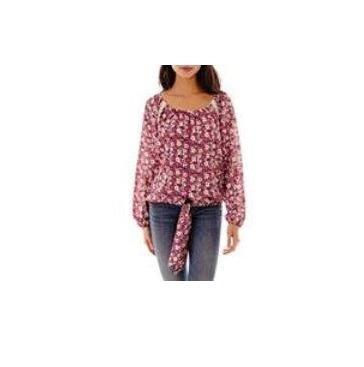 Blusa Self Esteem Liberty Con Crochet Importada Talle S