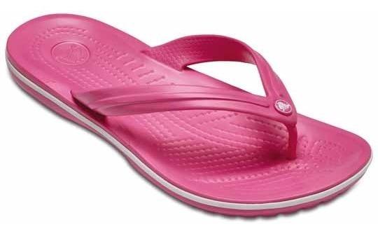 Sandalia Crocs Dama Crocband Flip Rosa/blanco