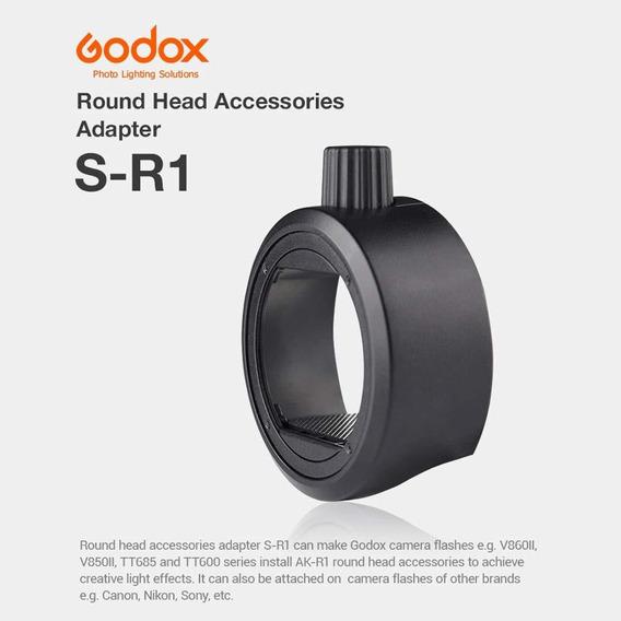 Godox S-r1 Flash Speedlight Adaptador Anel Preto
