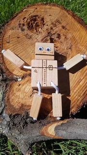 Robot De Madera, Jugetes De Madera, Didactico Artesanal.