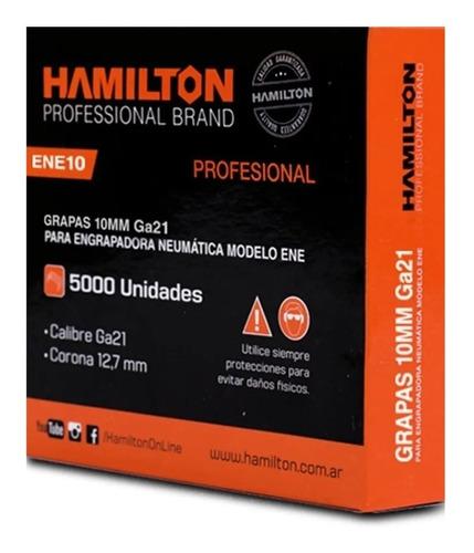 Grampa Engrampadora Hamilton 12,7 X 10 Mm X 5000 Unid Ene10