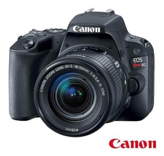 Câmera Digital Canon Eos Rebel Sl2 Dslr Com 24,2 Mp, 3\ , Gr