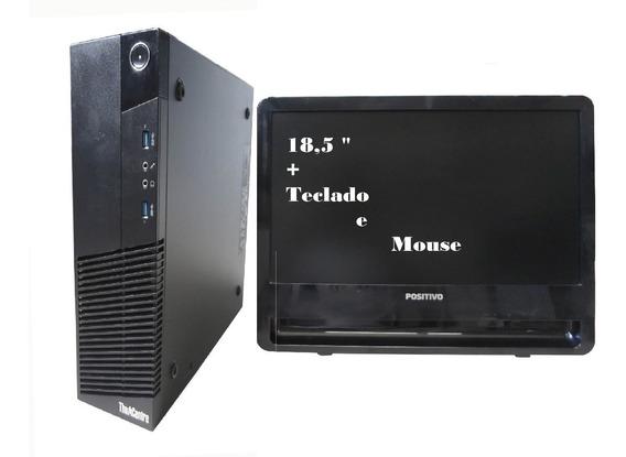Computador Lenovo M83 I3 4130 4gb 120ssd Mon 18,5 Semi Novo