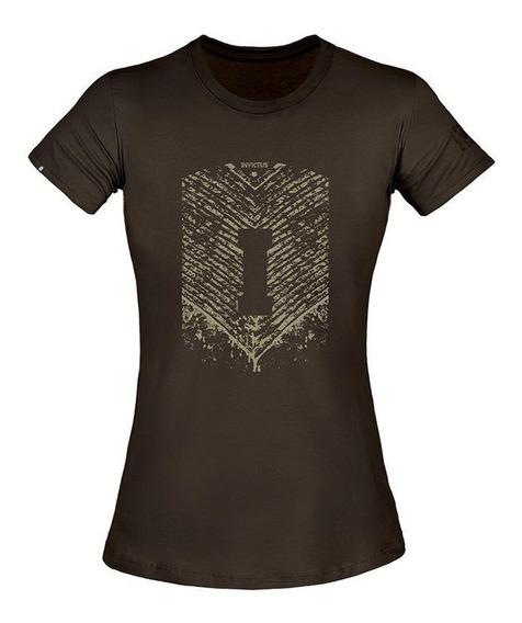 Camiseta T-shirt Invictus Concept Oficial Fem Tática Airsoft