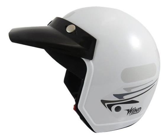 Capacete Moto Aberto Wind V2 Speed Lines Branco Tamanho 56
