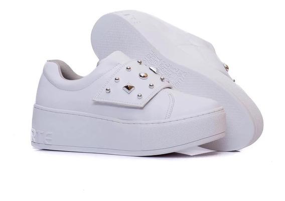 Zapatillas Mujer Blancas Vía Marte 19-1102 Importadas!