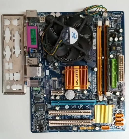 Kit Placa Mãe Gigabyte 775 Ddr2 Com Processador E Memoria