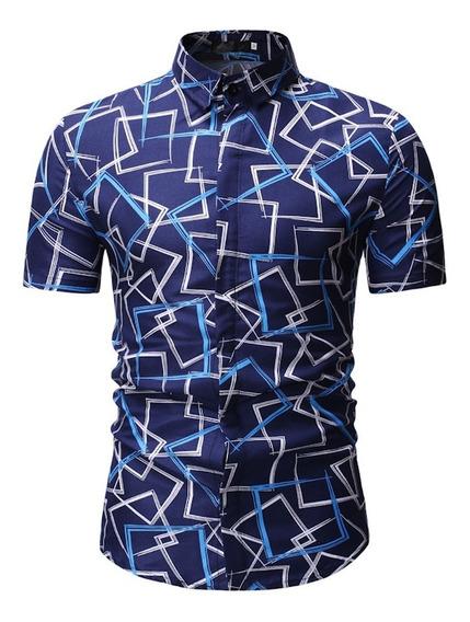 Camisa Hombre Solapa Manga Corta