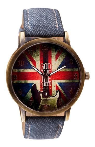 Relógio Feminino Masculino Modelo Rock Inglês Vintage
