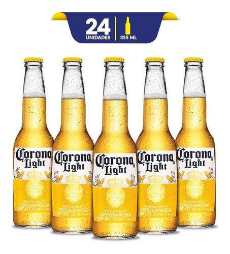Cerveza Clara Corona Light, 24 Botellas De 355ml C/u