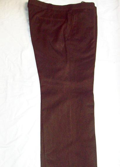 Aurojul-pantalon De Hombre-marron Oscuro O Crema -grueso