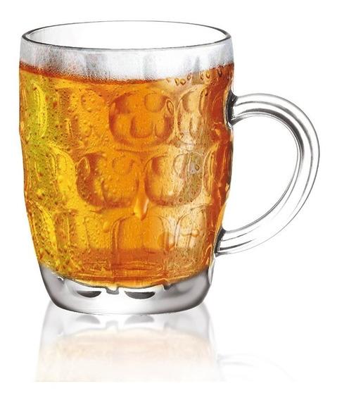 Caneca De Chopp Grande Copo Em Vidro Para Cerveja Luxo 570ml