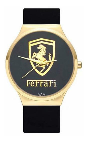 Relógio Masculino Ferrari M83 Sport Gold Dourado Com Caixa