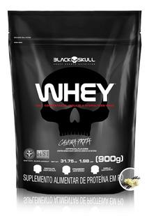 Whey Protein 900g Refil - Black Skull Sabores