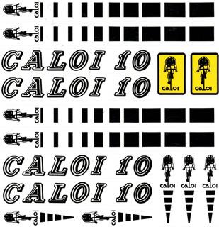 Adesivo Caloi 10 Original Preto Cartela Rara P/ Bicicleta