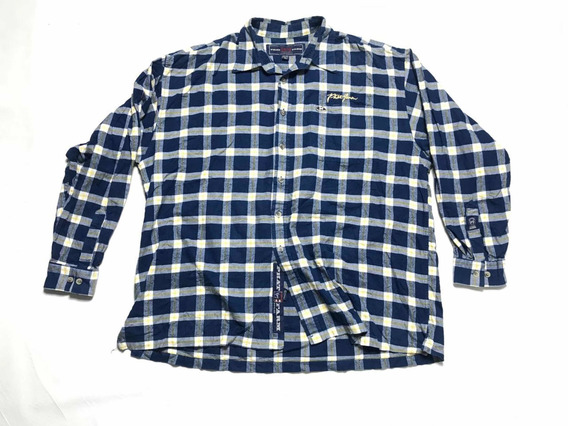 Camisa Phatfarm Hipster Hombre Talla 2xl Manga Larga Azul