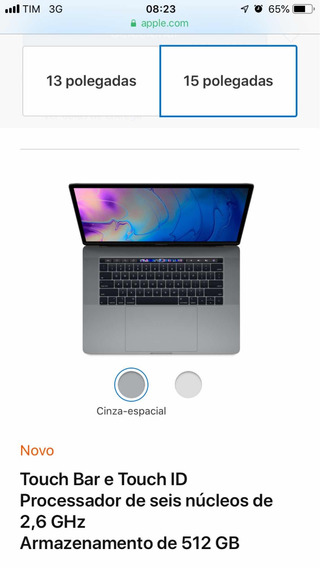 Macbook Pro 15 I7 16gb Touch Bar