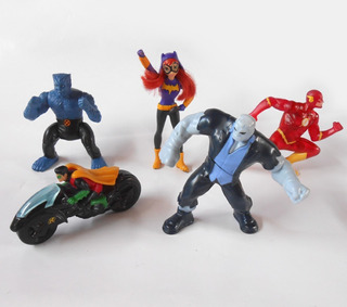 Lote 5 Muñecos Superheroes Dc Liga Justicia Marvel Mcdonalds