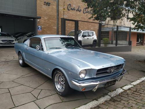 Imagem 1 de 15 de Mustang Fastback 1965, Placa Preta Em Exepcional Estado