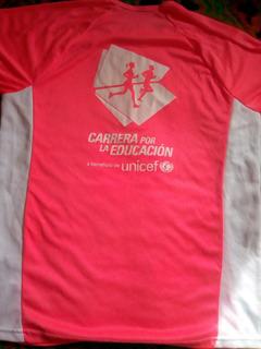 Camiseta Maratón Unicef, Beneficio Educación, Xl Excelente