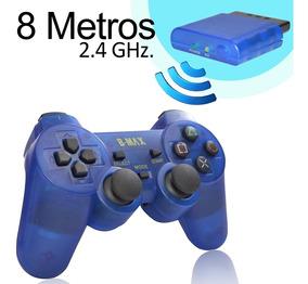 Controle Ps2 Sem Fio 8m 2.4ghz Dual Shock +1.463 Vendas
