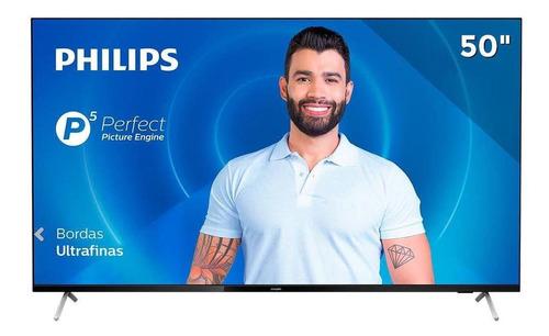 Imagem 1 de 6 de Smart Tv Dled Uhd Hdr 4k 50 Philips 50pug7625/78