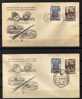 Numismza Argentina 1958 Mt 585-86 Gomif Dif ( S 167) Oferta