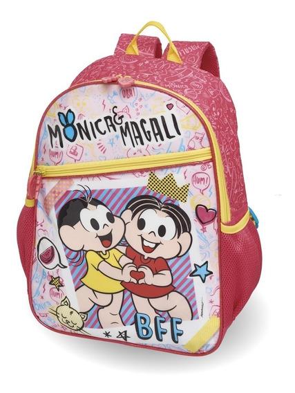 Mochila Escolar G Turma Monica E Magali Bff Pacific Original