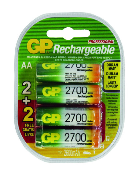 Pilhas Recarregáveis Aa 2700mah Blister C/4 Gp