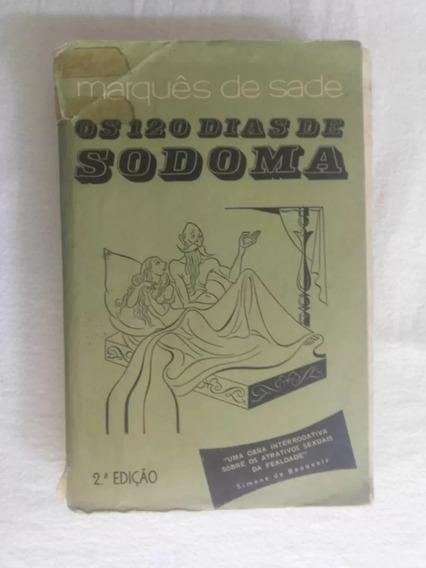 Os 120 Dias Sodoma Marques Sade 2ª Edição 1969 Ed Hemus Fg