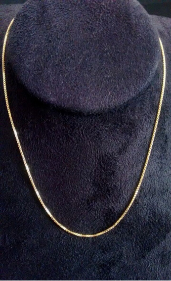 Corrente Veneziana Masculina Folheada Ouro 18k 60 Cm 0,5 Mm