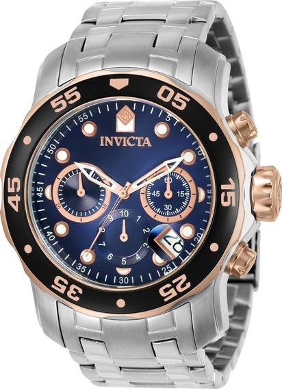 Relógio Invicta Pro Diver 80038 Masculino Banhado Ouro Rose