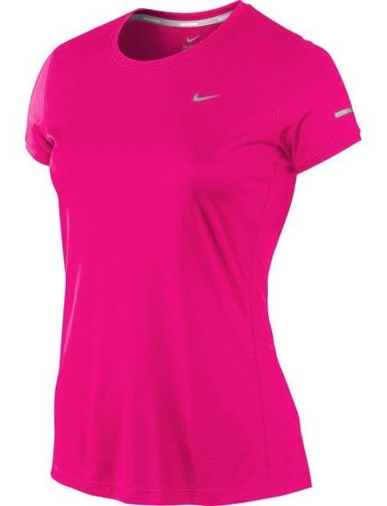 Remera Nike Miler Running Dri Fit Mujer Uv Originales - Usa