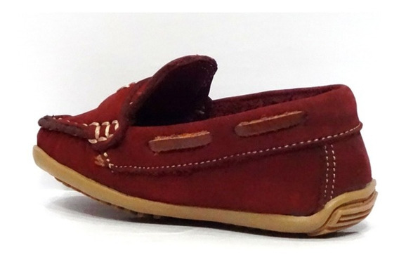 Sapato Infantil Couro Mocassim Laroche Vinho 005473