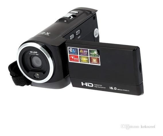 Filmadora Preta Hd 720p Camera 16mp Lcd 2.7