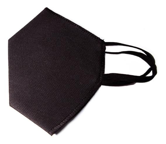 Cubrebocas Tipo Kn95 Negro Blanco Lavable Doble Capa 1 Pieza