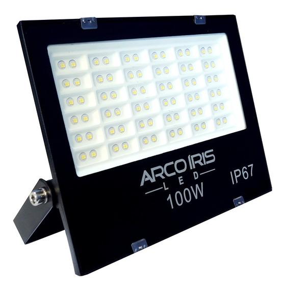 Refletor Holofote Microled 100w Multifocal Branco Frio Ip67