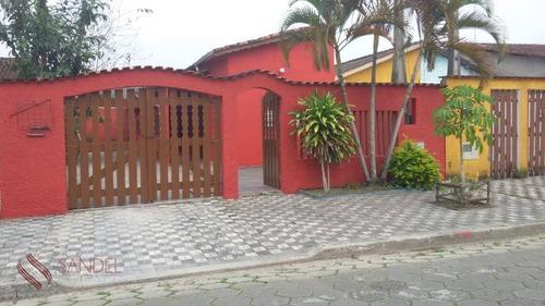 Casa Na Praia Em Mongaguá 250m Com Piscina Terreá - Aceita Permuta (j) - Ca0239