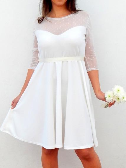 Talles Grandes- Vestido Falda Plato Escote Corazón L Al 6xl