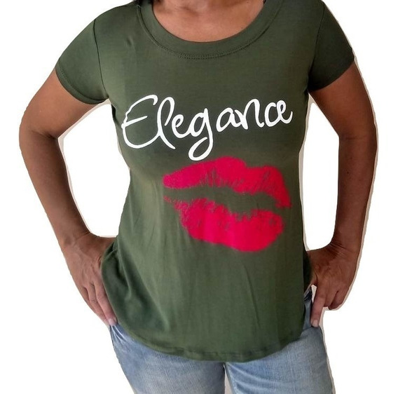 Atacado Blusa Feminina T-shirt Baby Look Revenda 10 Unidades