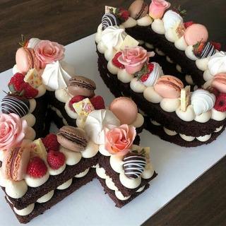 Torta, Letra O Número, Decorado, Cumpleaños, Eventos.
