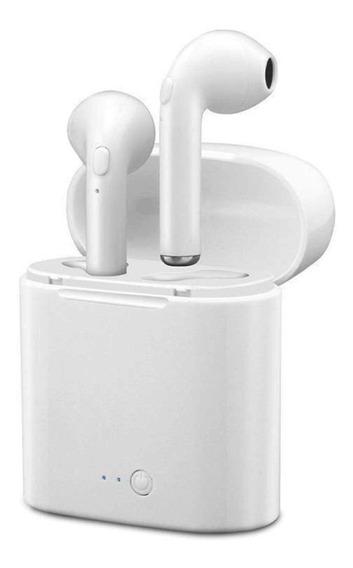 Fone Ouvido Bluetooth I7s 4.2 Par Tws Sem Fio Case Base
