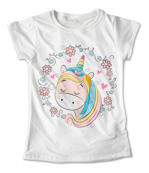 Blusa Unicornio Colores Playera Amor Flores Corazon #155