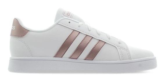 Tenis adidas Grand Court K Blanco/rosegold Ef0101