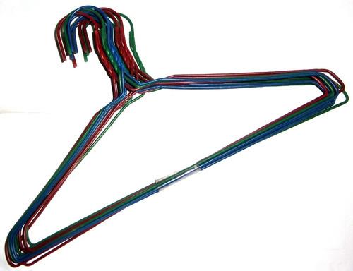 Imagen 1 de 2 de Gancho De Ropa Grande Forrado Paquete De 12pzas Oferta Metal