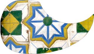 Escudo Palheteira Resinada Violão Aço Sônica Artistic Tiles