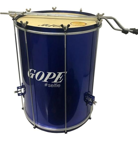 Surdo Gope 18 X 60cm Azul Alumínio Bal6018pesa Com Tripé