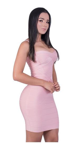 Vestido Feminino Bandagem Acetinada Original Varias Cores