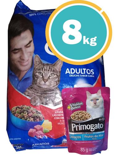 Alimento Gato Adulto Cat Chow 8kg C/salsa Y Envío S/cargo